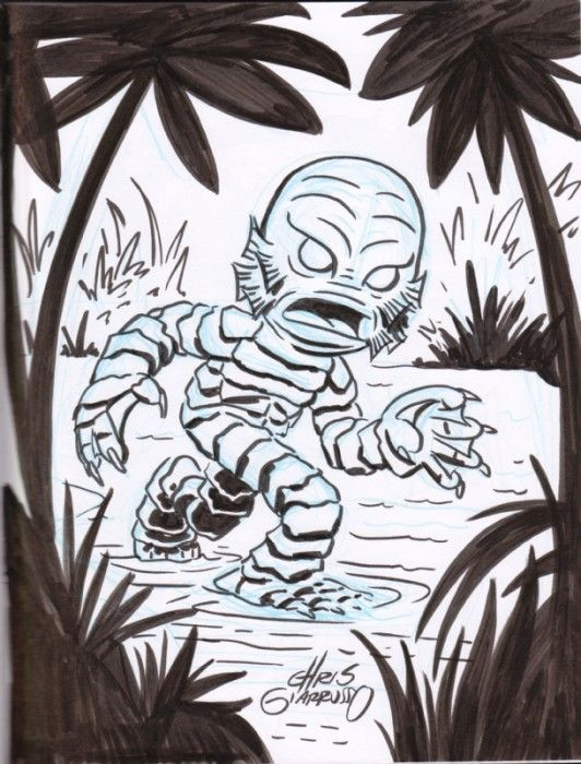 17 best images about creature from the black lagoon art on for Creature from the black lagoon coloring pages