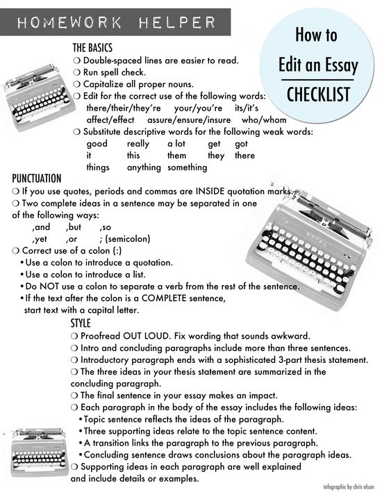 how to proofread an essay