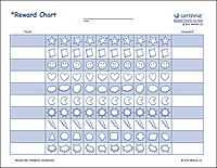 Printable rewards charts for kids at vertex42.com. They also have tons of other excel templates of calendars, planners, budgeting, etc