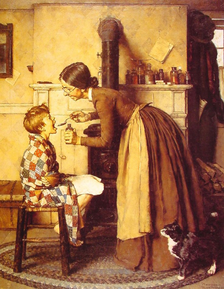 Spring Tonic by Norman Rockwell, Oil on canvas: