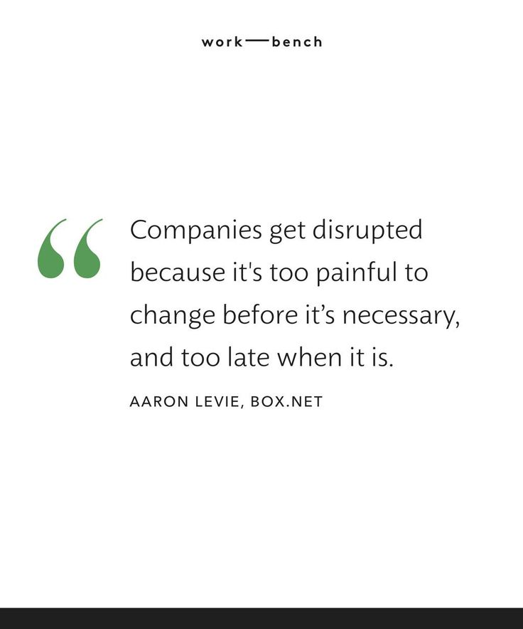 """Companies get disrupted because it's too painful to change before it's necessary, and too late when it is"" - @Levi Ely pic.twitter.com/pGcumTxDVy"