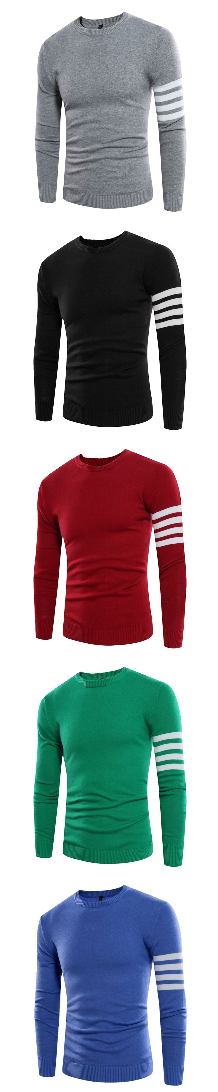 2017 Spring Men Knitted Sweaters Round neck Jumper Men's Cotton Pullover Thin White Sweater Brand Clothing 3XL