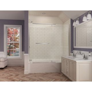 dreamline vitreox 58 to in w x 58 in h pivot tub door by dreamline - Tub Shower Doors