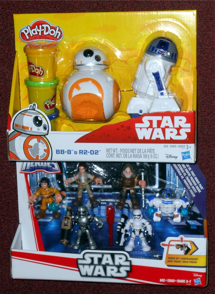 """Force Friday: Star Wars """"The Last Jedi"""" Hasbro - Star Wars Play-Doh BB-8 & R2-D2 Hasbro - Star Wars Galactic Heroes: Resistance vs. First Order Pack Rose (Resistance Tech Outfit), Rey (Resistance Outfit), Luke Skywalker, R2-D2, Captain Phasma, & First Order Stormtrooper"""