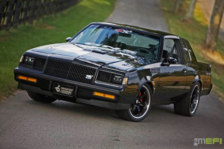 Buicks are for old people, right? Well...maybe not! Richard's awesome GNS Performance '87 Buick Grand National is powered by a 400+HP Buick LC2 making 20psi of boost. And yes, it is very quick in a straight line, but it can also get around corners too, thanks to Detroit Speed chassis bracing, RideTech suspension, and 18x8.5/18x9.5 Forgeline CV3C Concave wheels finished with Gloss Black centers, Polished outers, & custom center caps! See more at…