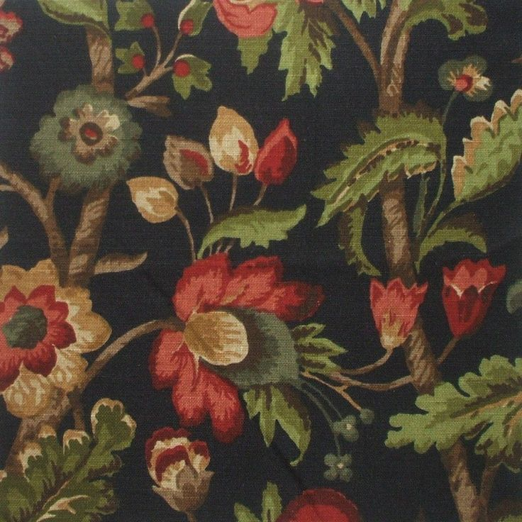 Elizabeth Floral Night Black Full Duvet Cover Reversible
