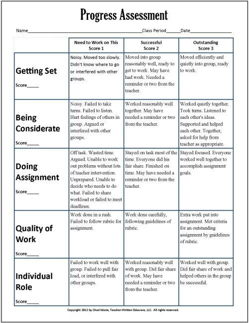 tcap writing assessment scoring rubric for cooperative learning