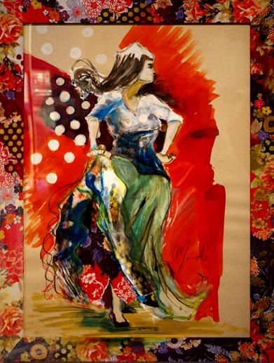 Danseuse peintures dessins flamenco pinterest - Dessin danseuse de flamenco ...
