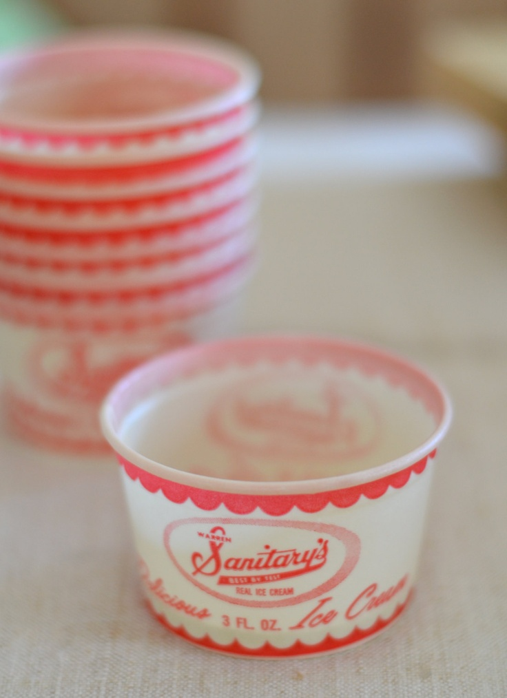 Vintage Ice Cream Cups. I love anything to do with ice cream:)