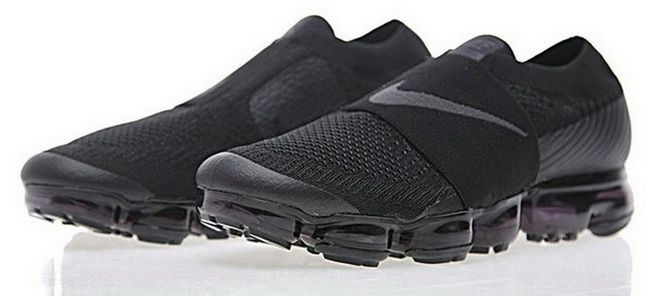 c219445c2987b Original Nike Air VaporMax Laceless 2018 Triple Black AH3397-004
