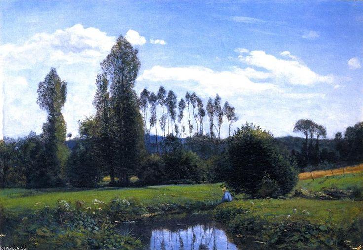 Acheter Tableau 'Vue près de Rouelles' de Claude Monet - Achat d'une reproduction sur toile peinte à la main , Reproduction peinture, copie de tableau, reproduction d'oeuvres d'art sur toile