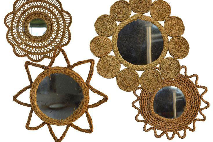 FIBRAS NATURALES | espejos de esparto hechos por artesania san jose