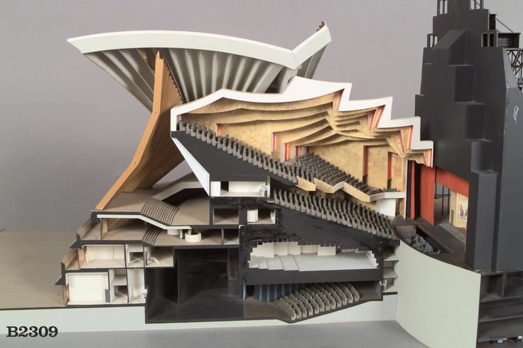 Sydney opera house sectional model architectural models for Architectural materials list