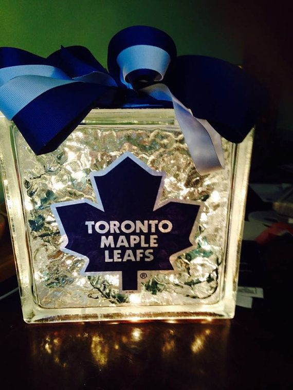 Toronto Maple Leafs NHL Glass Block Night by CarriesCreativeGifts