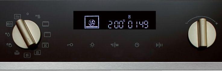 Pelgrim oven display met draaiknop. Met de draaiknop selecteert u eenvoudig de gewenste stand. Pelgrim heeft ovens met twee draaiknoppen.
