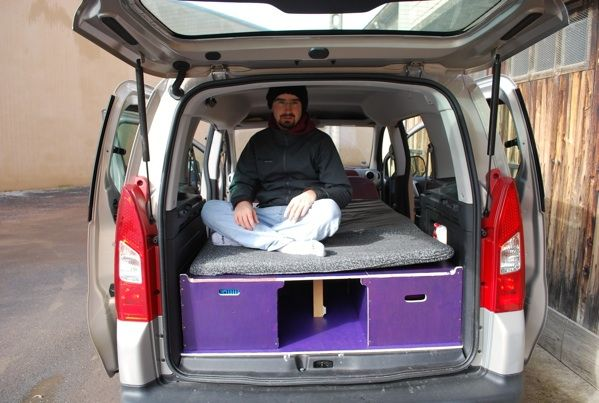 Am nagement d un berlingo en ludospace bricolage for Amenagement interieur camping car