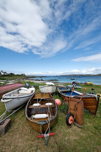 IONA, SCOTLAND, UK -- The small island of Iona is famed as the relgious center where St. Columba brough Christianity to Scotland. It lies in the Inner Hebrides, just off the tip of the Isle of Mull.