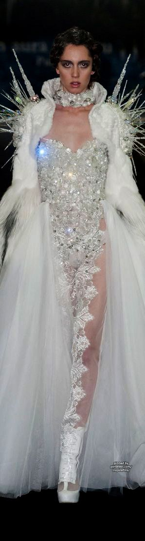 The perfect wedding dress for the perfect bridezilla or snow queen