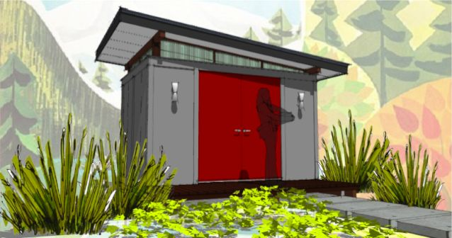 Mid century modern shed design section sheds for Mid century modern shed