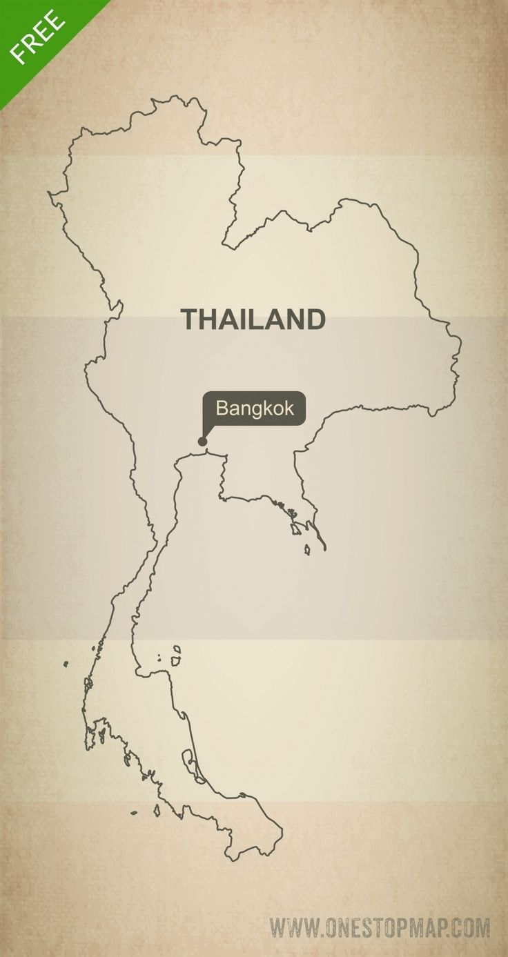 Map of Thailand outline 41 best Geography