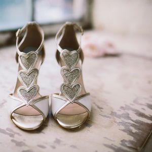 Blondie Heart T Bar Sandals - bridal finishing touches