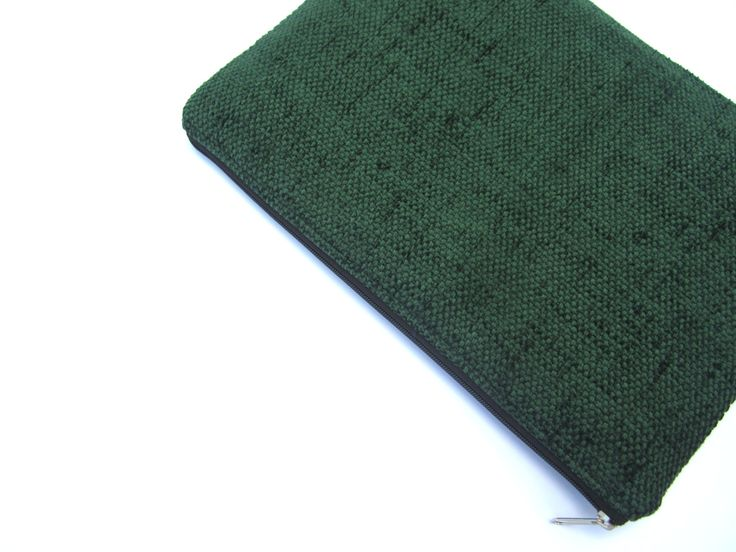 Simple green MacBook 13 sleeve with zipper, Macbook Air 13 case, Macbook Pro 13 case, Macbook Pro Retina 13 case, Macbook Retina 13 sleeve by CasesLab on Etsy