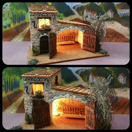 Santons Atelier de Fanny-Santons et Crèches de Noël-Santons de Provence - Etable n°3 - 59.00 EUR