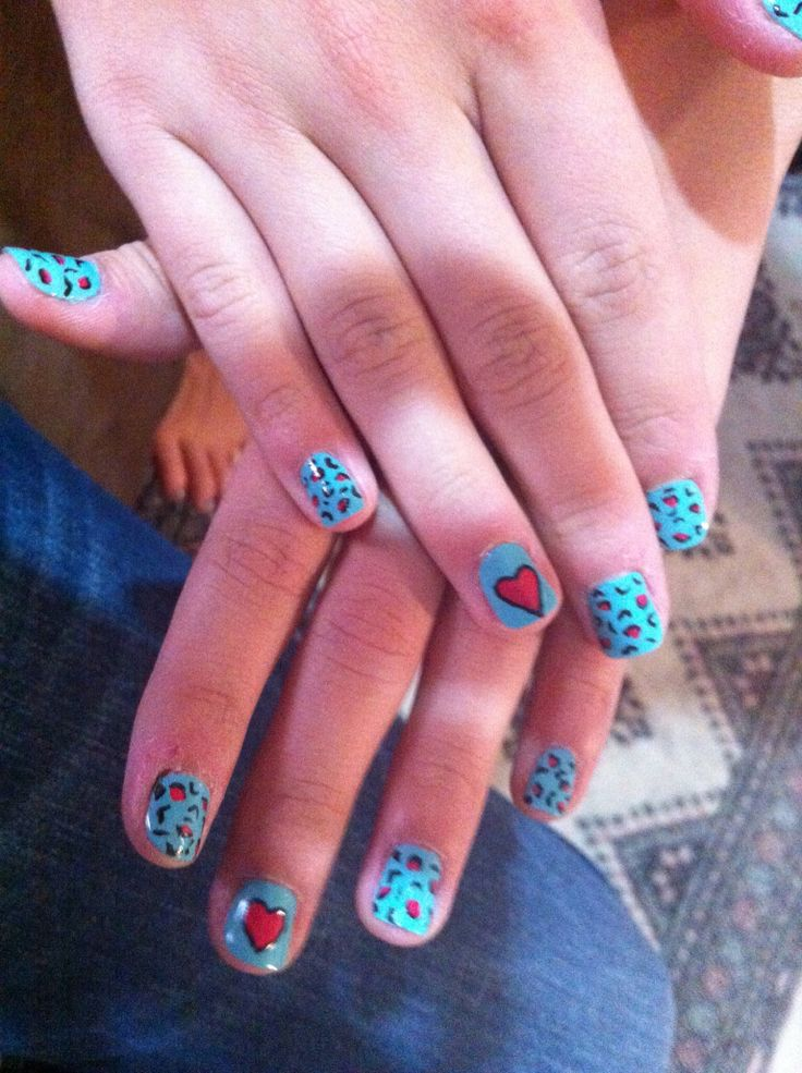 Leopard print with pink heart!!!