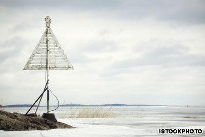 Frozen Sea in Luleå, Sweden