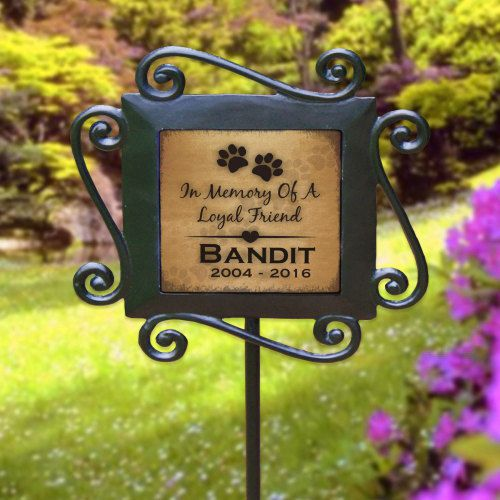 Personalized Faithful Best Friend Pet Memorial Garden Stake - Dog Memorial - Cat Memorial  ITEM DETAILS ♦Size: Garden Stakes are 28 H x 8.5 W