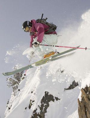 Ingrid Backstrom skiing at Crystal Mountain, Washington