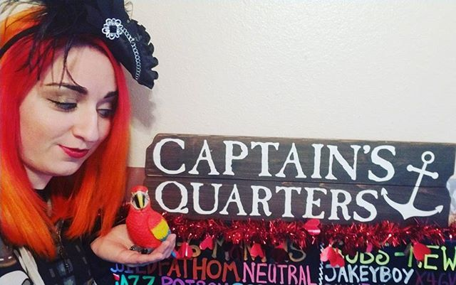 I found these perfect additions to my stream today at @hobbylobby! My #CaptainsQuarters are coming together! I have my official pet #parrot now! What shall we name it? #bemorepirate #pirates  #gaming #girlgamer #gamergirl #streaming #videogames #games #twitch #twitchlove #pirate #unicorn #dyedhair #hairdye #redhead #redhair #redheaded #Phoenixhair #Phoenix #firehair  #vibranthairdye #punkyhair #punkycolour