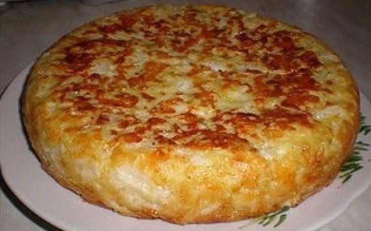 """Пирог """"Шарлотка с капустой"""" – Вкусные Рецепты"""