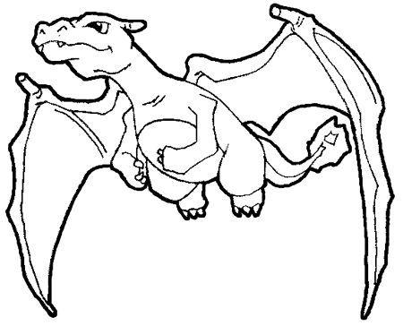 Coloriage pokemon a imprimer dracaufeu