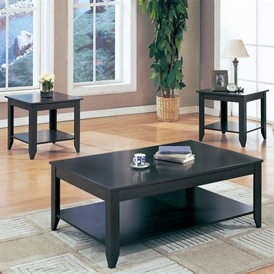 Monarch Specialties I 7985 3-Piece Occasional Table Set