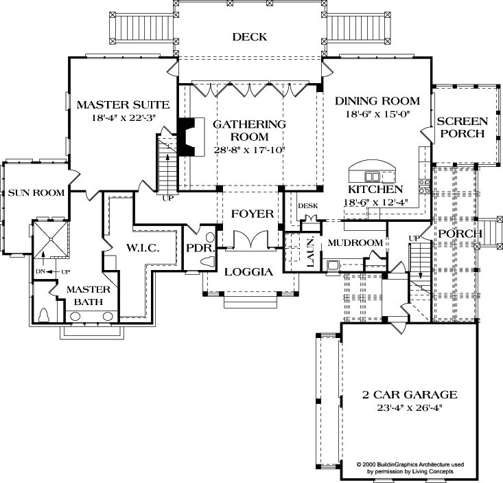 First Floor Plan Large Open Cottage Inspiring House