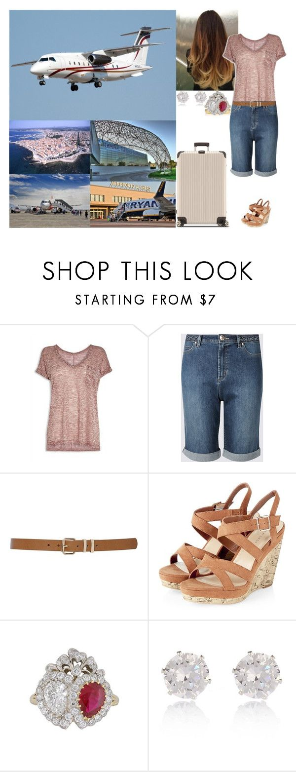 """""""Arriving at Alghero-Fertilia Airport, Sardinia."""" by hrhisabelleofmonigue ❤ liked on Polyvore featuring M&Co, River Island and Rimowa"""