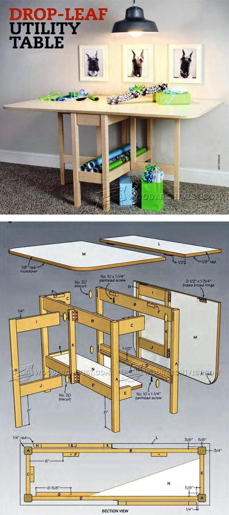 Drop Leaf Table Plans Furniture Plans