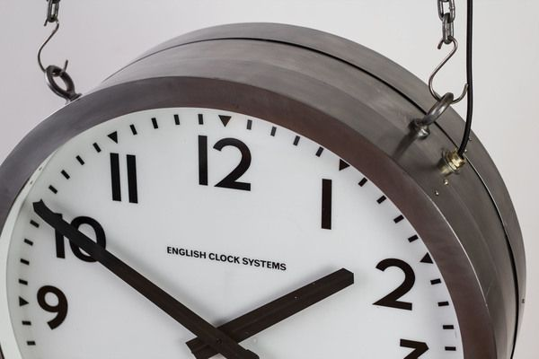 Huge Illuminated Smiths Clock | vinterior.co