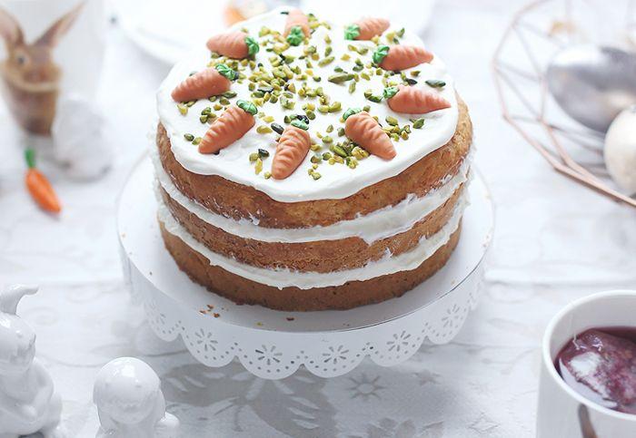 ( Puppenzimmer ): Ostervorbereitungen: Naked Cake ~ Rübli-Torte