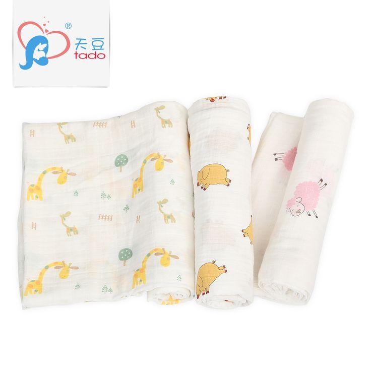 >> Click to Buy << tadomuslin Baby Muslin Blanket 100% Cotton Swaddle Blanket120x120 cm Multifunctional Muslin Blankets Newborn Best Quality Muslin #Affiliate