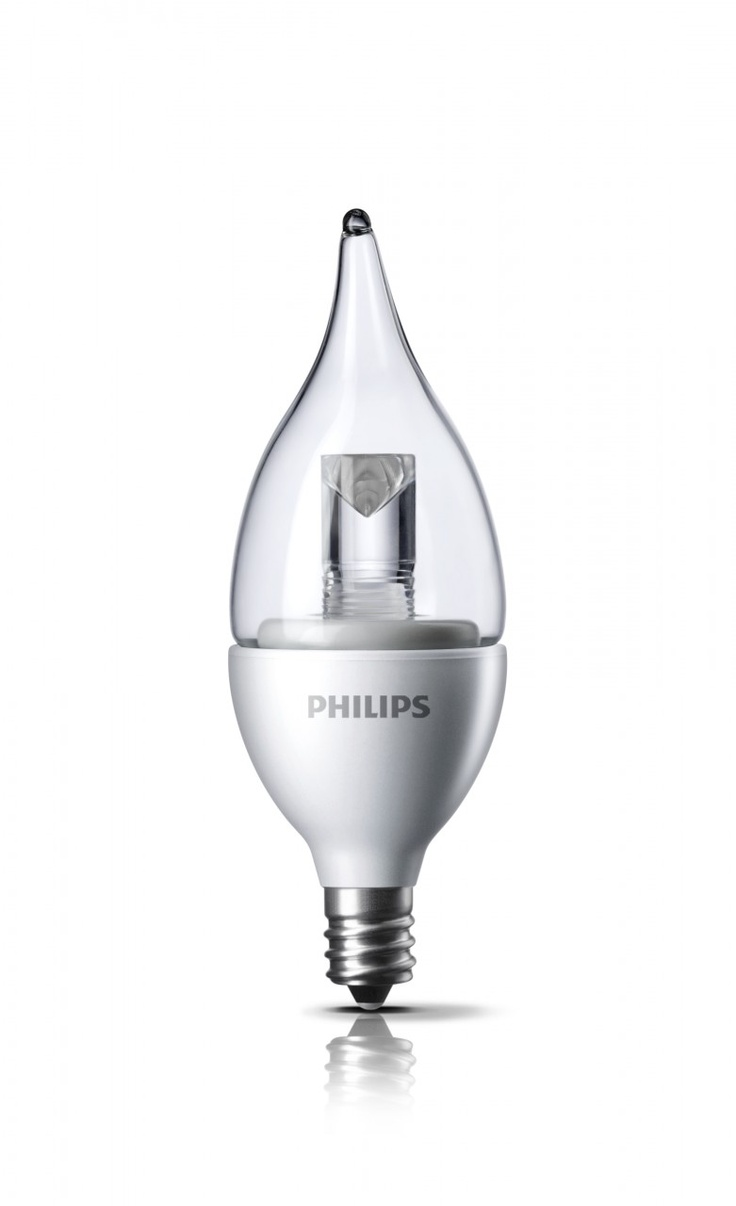 Philips DecoLED (TM) Dimmable 25W Replacement BA11 Candle with Bent Tip Clear LED Light Bulb with Candelabra (E12) Base - Soft Warm White $17.95