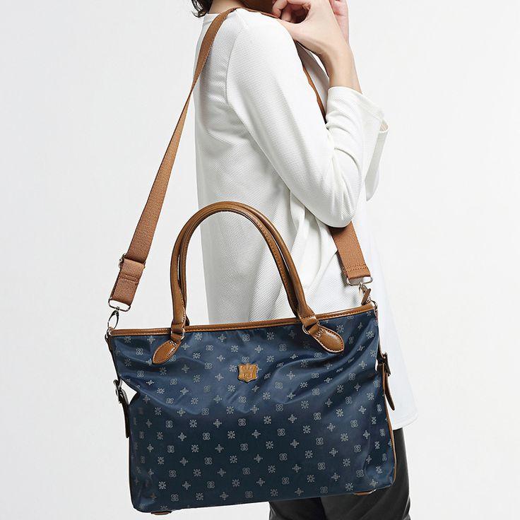 Ladies satchel waterproof nylon casual Shoulder Bag Handbag Red lip printed package soft Commuter Bag solid all-match Girls bags