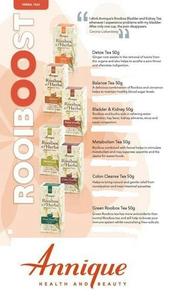 Herbal Teas....for all problems...from Annique Rooibos Tea.
