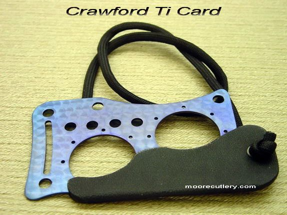 Custom Crawford Titanium Credit Card Karambit Knife - Moore Cutlery Custom Knives & Production KnivesEdc Kits