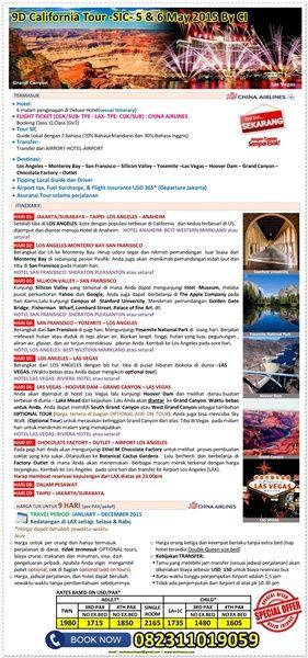 9D California Tour -SIC- 5 & 6 May 2015 By CI  I  Call : 082311019059  I  Email : sentratourtravel@gmail.com  I  WWW.SENTRATOUR.COM  #TourMurahAmerika #TourMurahCalifornia #TourMurahMay #SICtour #PaketTour2CanGo