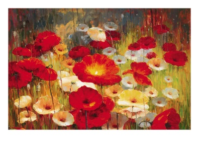 Meadow Poppies I Giclee Print