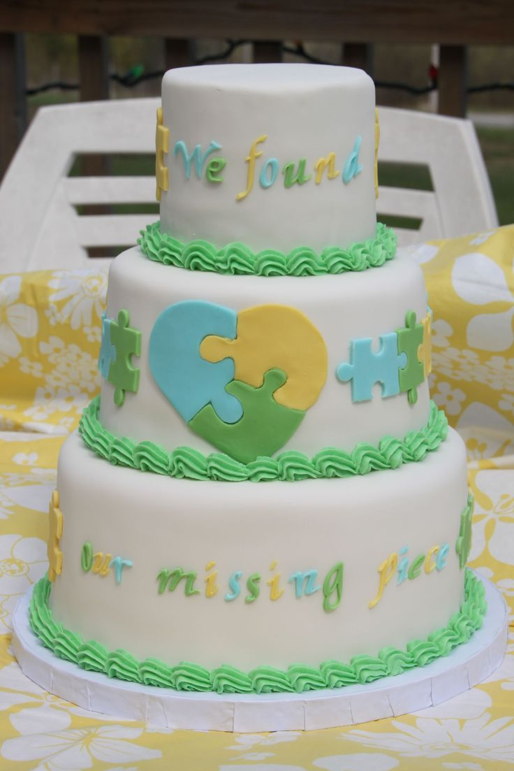 Puzzle Cake for Celebration of an adoption.