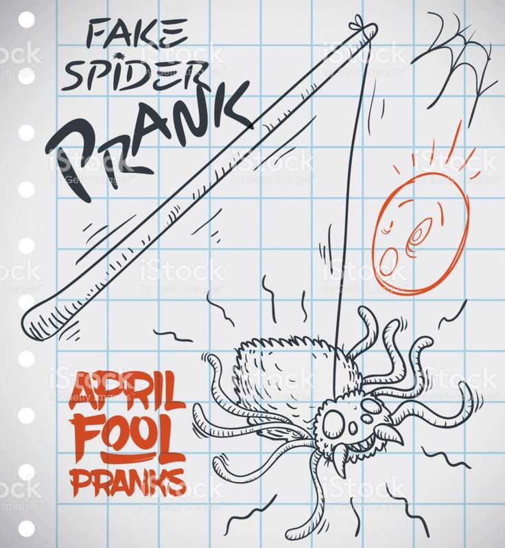 Draw of Fake Spider Prank Ready for April Fools' Day