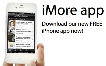 iMore delivers breaking news, helpful how-tos, the hottest app, game, and accessory reviews, and very best podcasts for iPhone, iPod touch, iPad, and Apple TV enthusiast